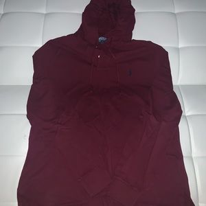 Other - Burgundy hooded shirt Polo by Ralph Lauren